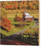 Sleepy Hollow - Pomfret Vermont-2 Wood Print
