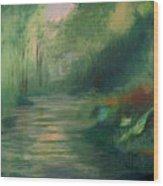 Sleepy River Wood Print
