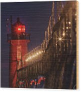 South Haven Lighthouse Wood Print