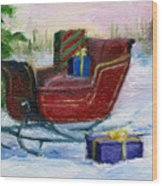 Sleigh Aceo Wood Print