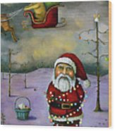 Sleigh Jacker Wood Print by Leah Saulnier The Painting Maniac