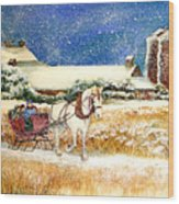 Sleigh Ride At Brickers Wood Print