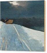 Sleigh Ride Wood Print by Winslow Homer