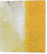 Slice Of Orange And Lemon In Cocktail Glass Wood Print