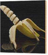 Sliced Banana Wood Print