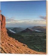 Slieve Bearnagh Rusty Golden Sunset Wood Print