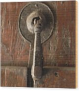 Slim Door Knocker Wood Print