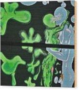 Slime Bubble Couple Wood Print
