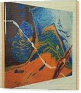 Slime, Roping A Primorbial Amoeba Wood Print