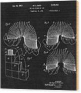 Slinky Patent Design  Wood Print