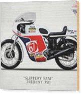 Slippery Sam Production Racer Wood Print