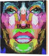 Split Personality By Nixo Wood Print