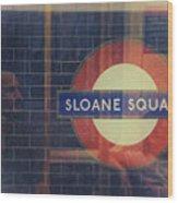Sloane Square Portrait Wood Print