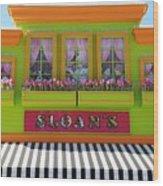 Sloans Wood Print