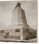 Sloat Monument On The Presidio Of Monterey Circa 1910 Wood Print