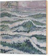 Sloop At War Wood Print