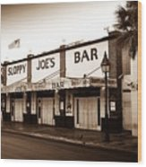 Sloppy Joe's - Key West Florida Wood Print by Bill Cannon