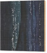 Slot Canyon In Moonlight Original Painting Wood Print