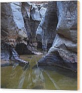 Slot Canyon In Zion National Park Wood Print