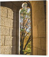 Slot Window Wood Print