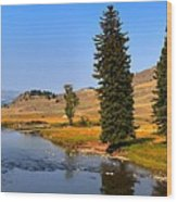Slough Creek Afternoon Panrama Wood Print