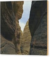 Slot Canyon Within The Tent Rocks Wood Print