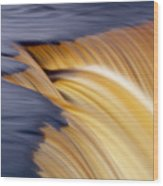 Slow Motion Waterfall Wood Print by Romeo Koitmae