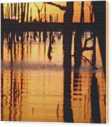 Slue Sunset Wood Print