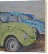 Slugbug Green Wood Print