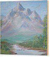 Slumber Mountain Wood Print