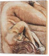 Slumber Pose Wood Print