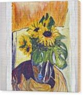 Slunecny-triptych Wood Print