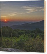 Skyline Drive National Park At Sunset Wood Print