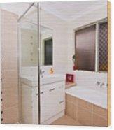 Small Bathroom Wood Print