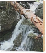 Small Beautiful Waterfalls Wood Print by Tom Johnson