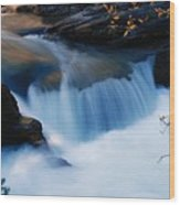 Small Cascade In Maligne Canyon Wood Print