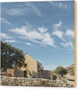 Small Chapel In The Hills Of The Balagne Region Of Corsica Wood Print