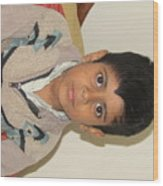 Small Child Images Wood Print