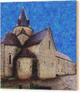 Small Church 3 Wood Print