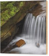 Small Falls At Governor Dodge State Park Wood Print