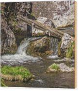 Small Falls Below Big Falls Wood Print