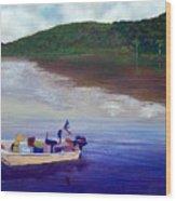 Small Fishing Boat Wood Print by Tony Rodriguez