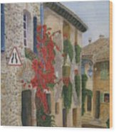 Small French Village Wood Print