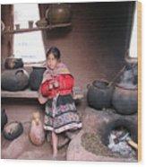Small Girl Wood Print