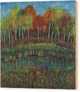Small Lake. Wood Print