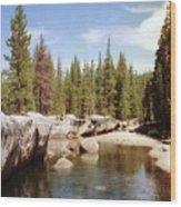 Small Lake Sierra Nevada Wood Print