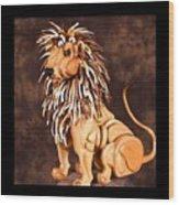Small Lion Wood Print by Thomas Thomas