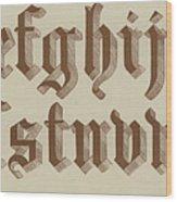 Small Old English Riband  Wood Print