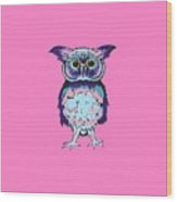 Small Owl Pink Wood Print