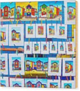Small Paintings For Sale In La Boca Area Of Buenos Aires-argentina  Wood Print